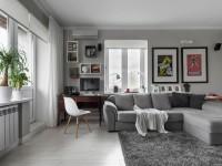 Современный дизайн квартиры студии 30 кв. м.