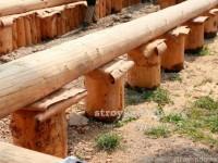 Деревянный фундамент для частных построек своими руками