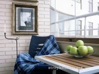 Интерьер балкона: как превратить место для складирования хлама в пространство для работы и отдыха?