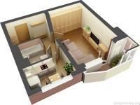 Дизайн интерьера однокомнатной квартиры 40 кв. м. Что нужно знать перед началом?