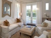 Белые шторы – лаконичная сдержанность