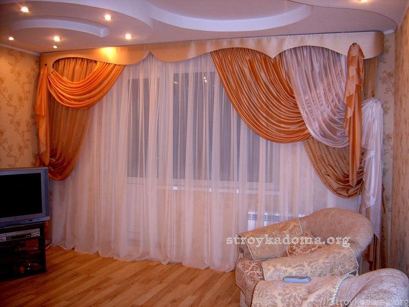 Подобрать красивые шторы для гостиной с балконом
