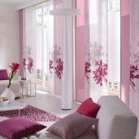 Японские шторы в интерьере квартиры - фото и описание