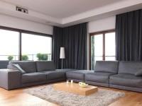 Серые шторы – благородная простота