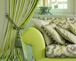 Зеленые шторы в интерьере: природное вдохновение