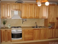 Кухня из сосны — мебель из натурального дерева