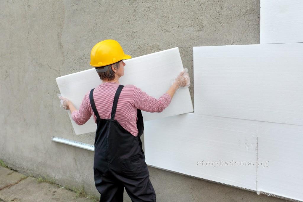 Утепление стен пенопластом фото