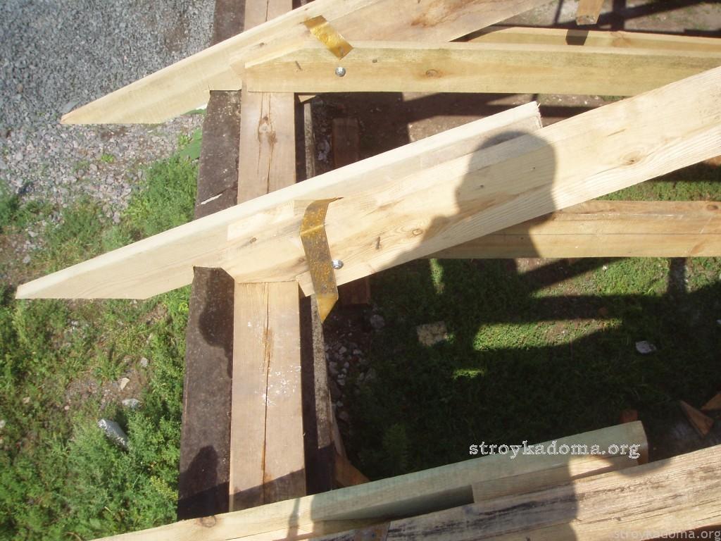 удлинение стропил для крыши