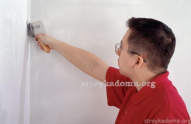 Выровнять стены шпаклевкой своими руками 655