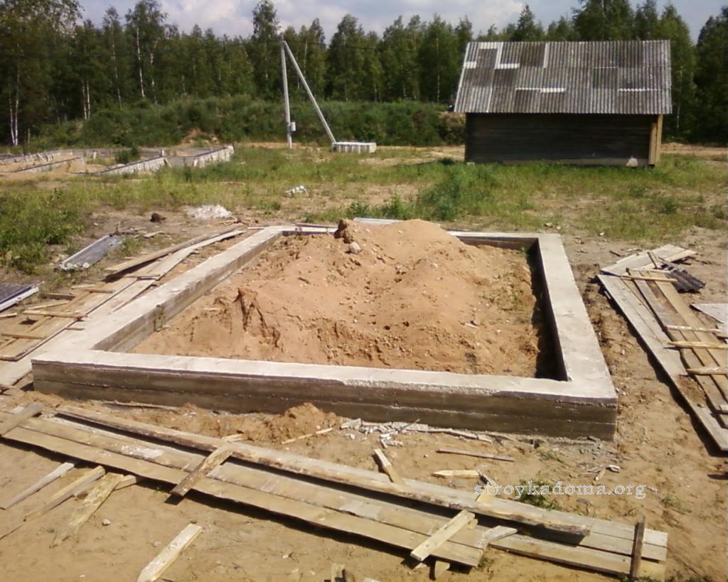 готовый ленточный фундамент