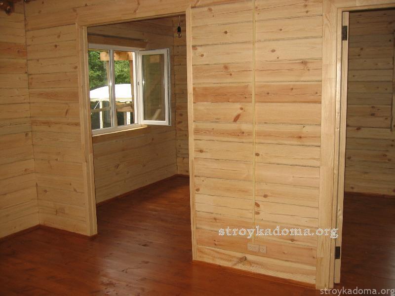 внутренние перегородки в доме из дерева