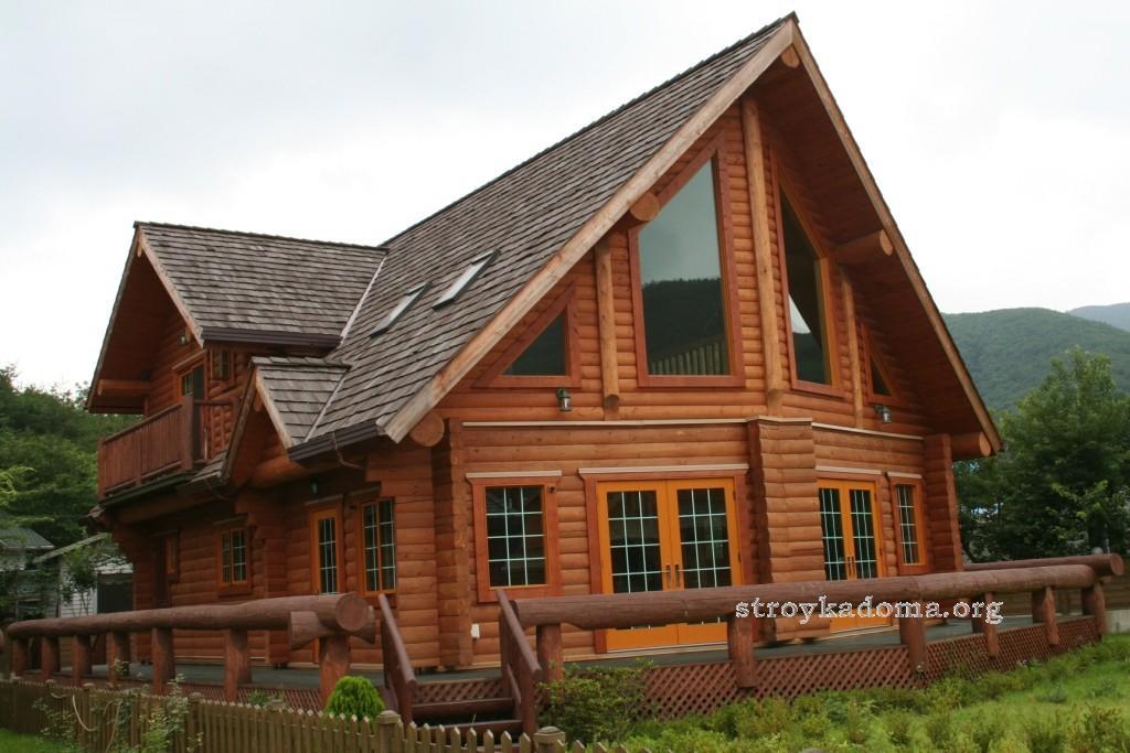 деревянная стена дома