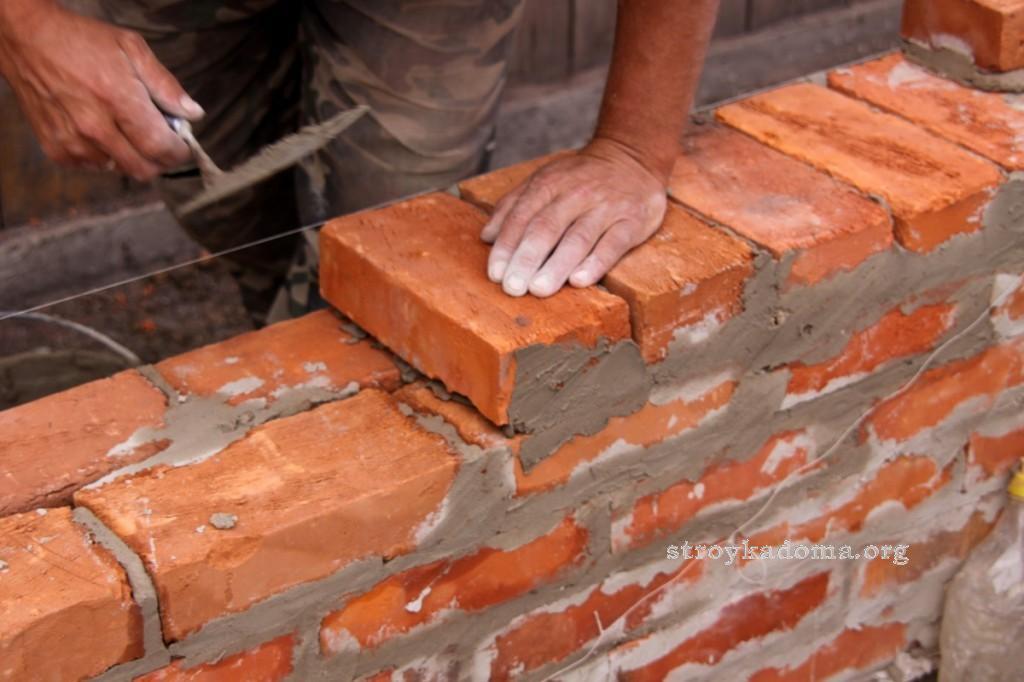 как делают кирпичные стены