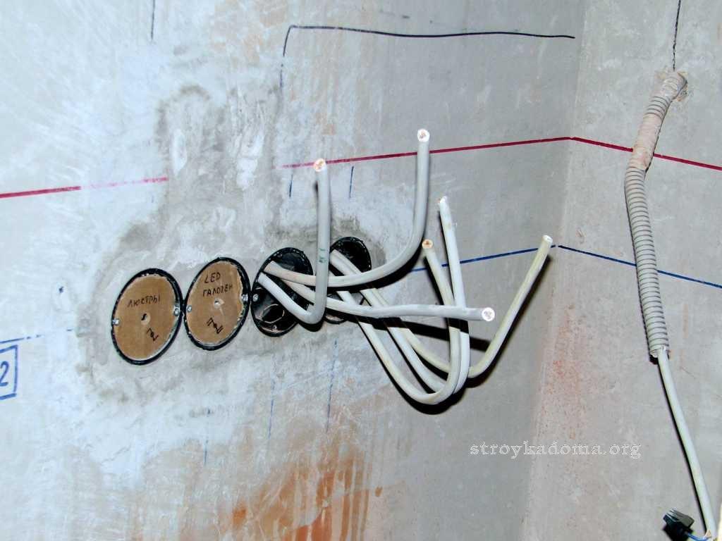 разметка стен для штробы