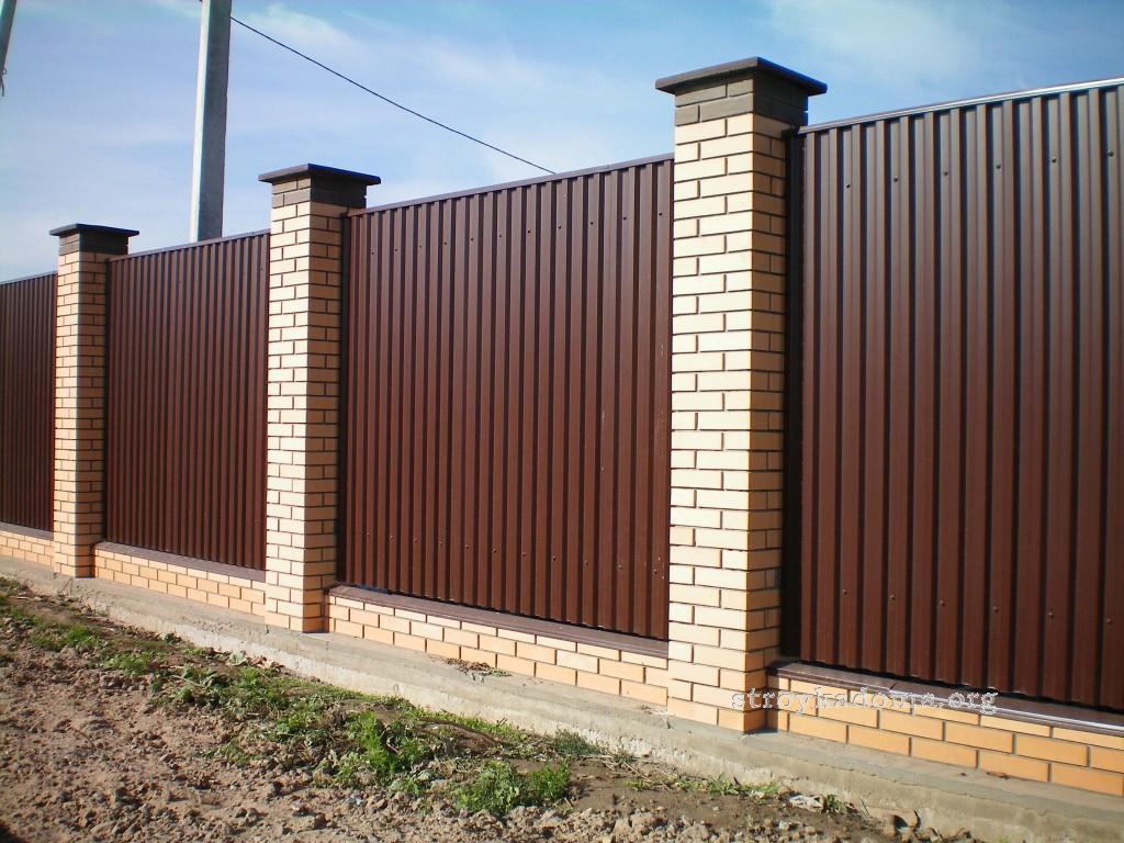 забор коричневый