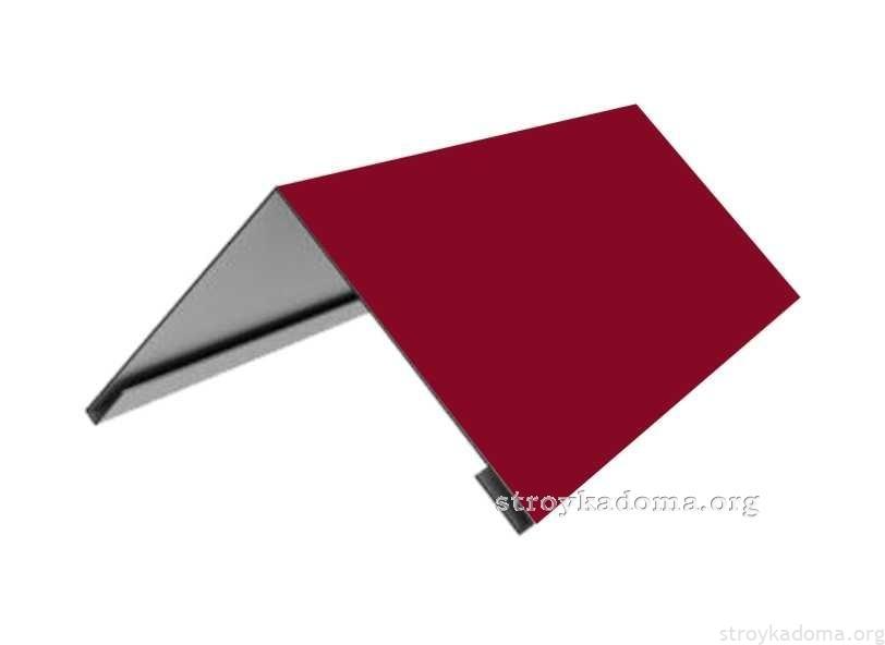 Купить Изготовим/продадим конек покрытие полиэстер для монтирования на верхний стык кровли. . Длина изделия 2метра КРОВЛЯ-ФАСАДЫ