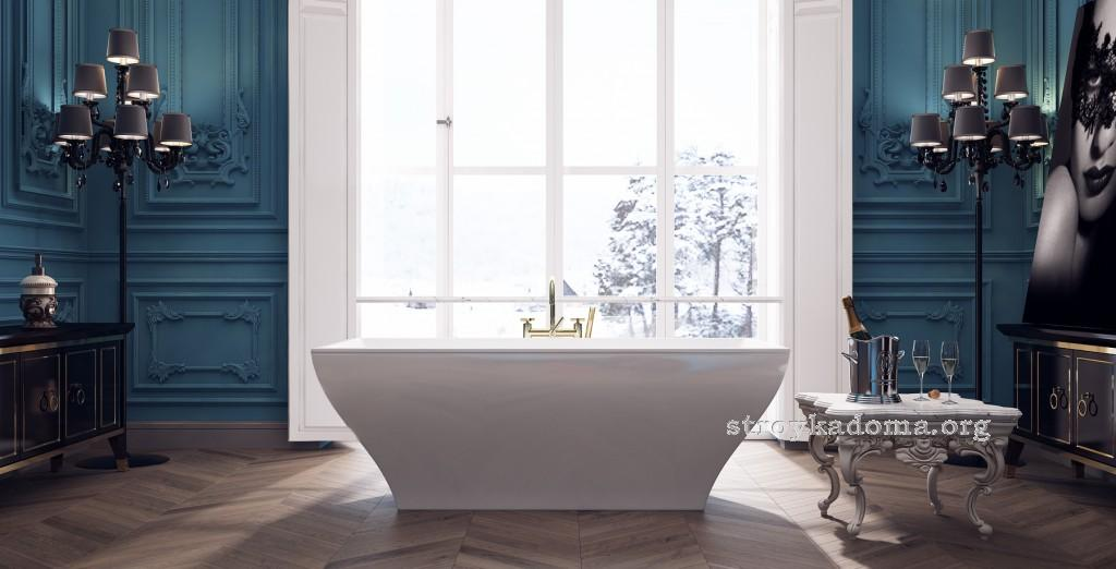 дизайн ванной ретро фото