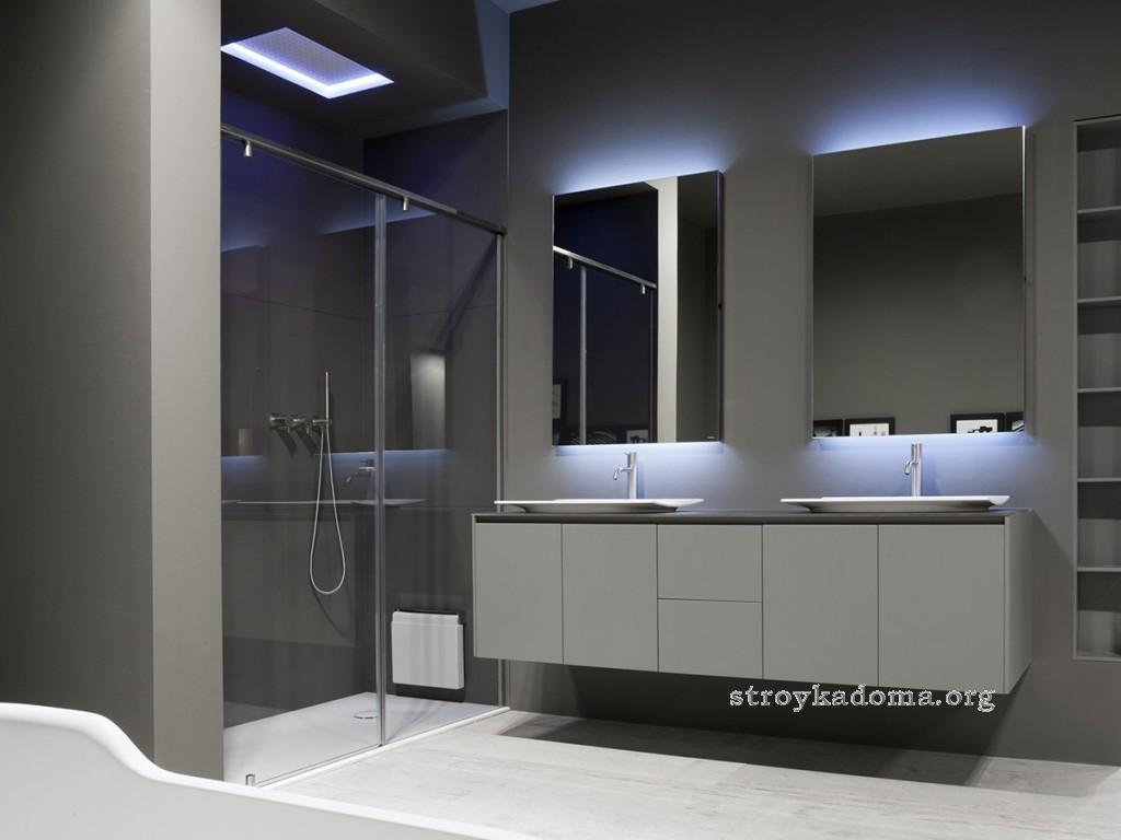 дизайн ванной хайтек