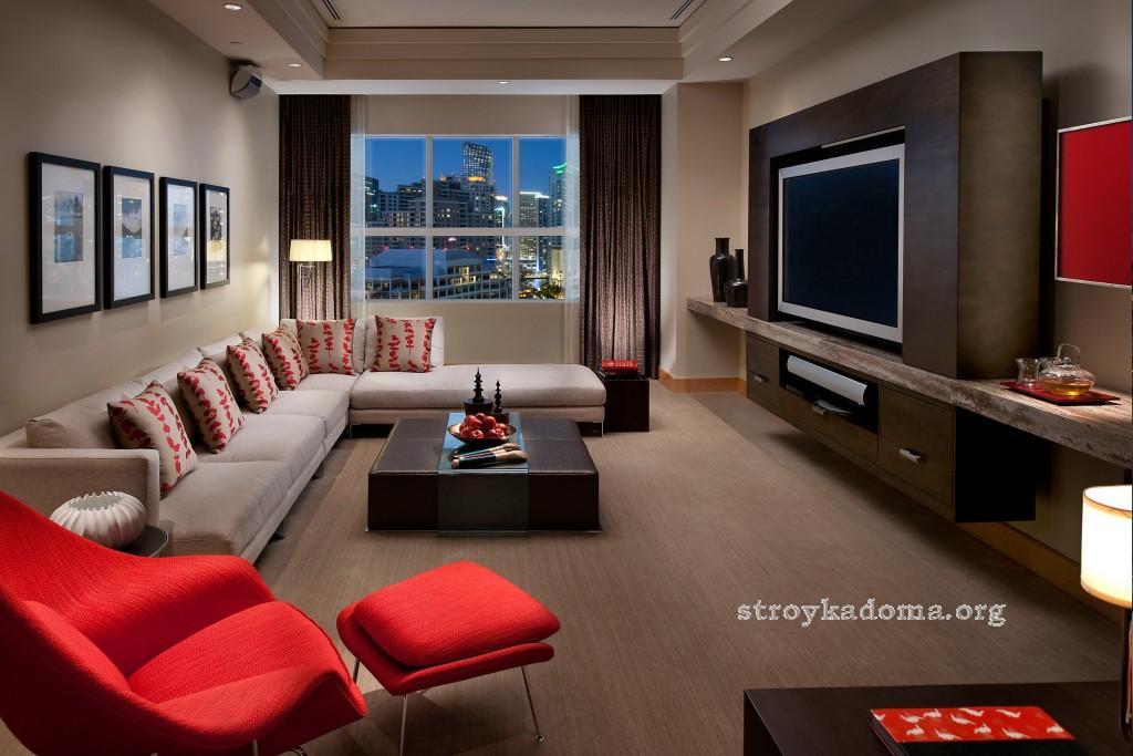 дизайн гостиной спальни в квартире