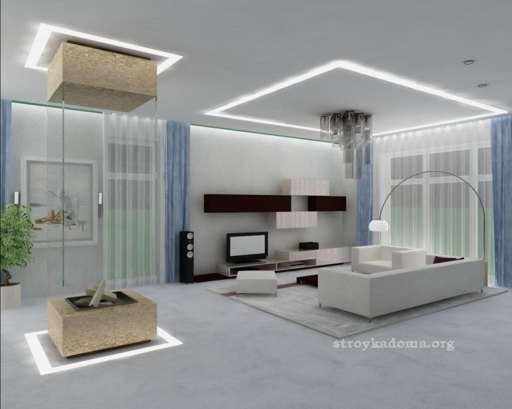 дизайн интерьера гостиной минимализм