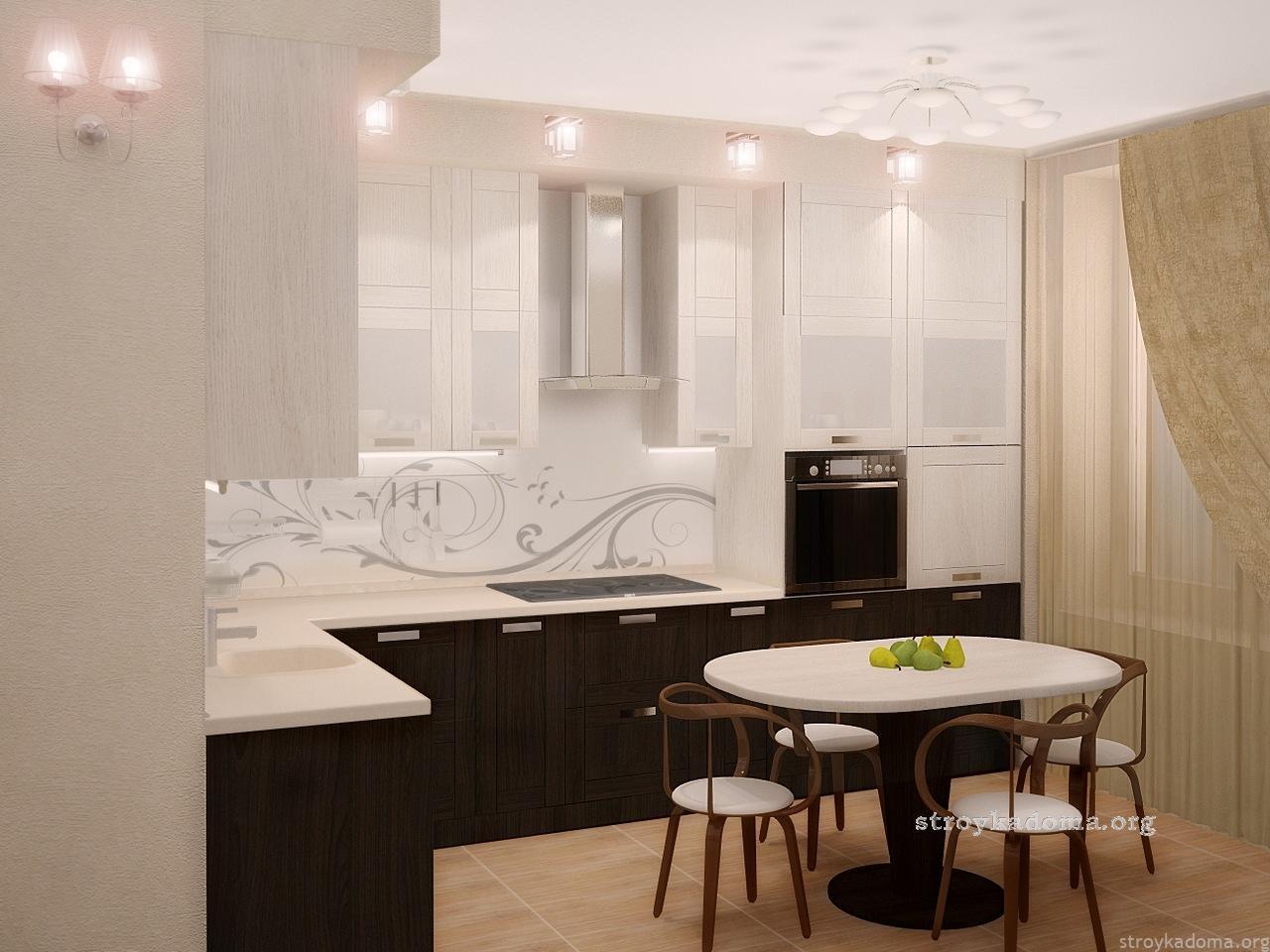 Дизайн для небольшой кухни  2018 современные идеи 69