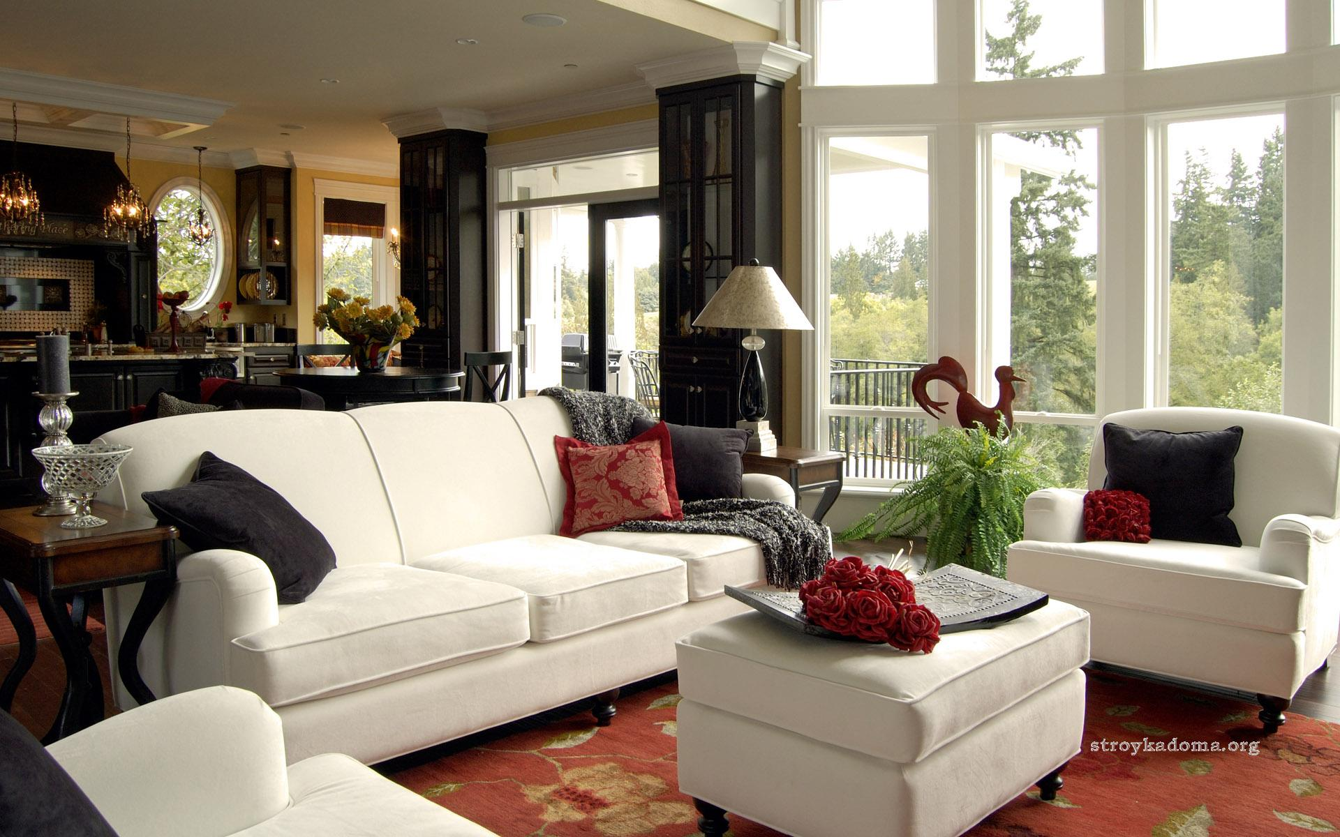 Интерьер гостиной: интересные варианты оформления, совмещение с кухней, спальней, полезные советы, фото