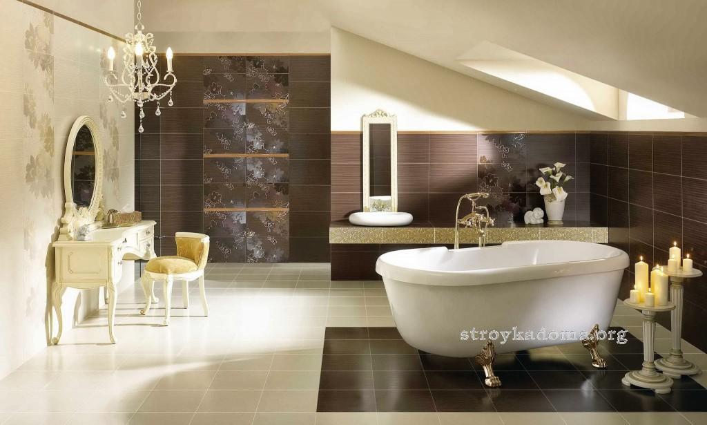 красивая ванная в стиле ретро фото