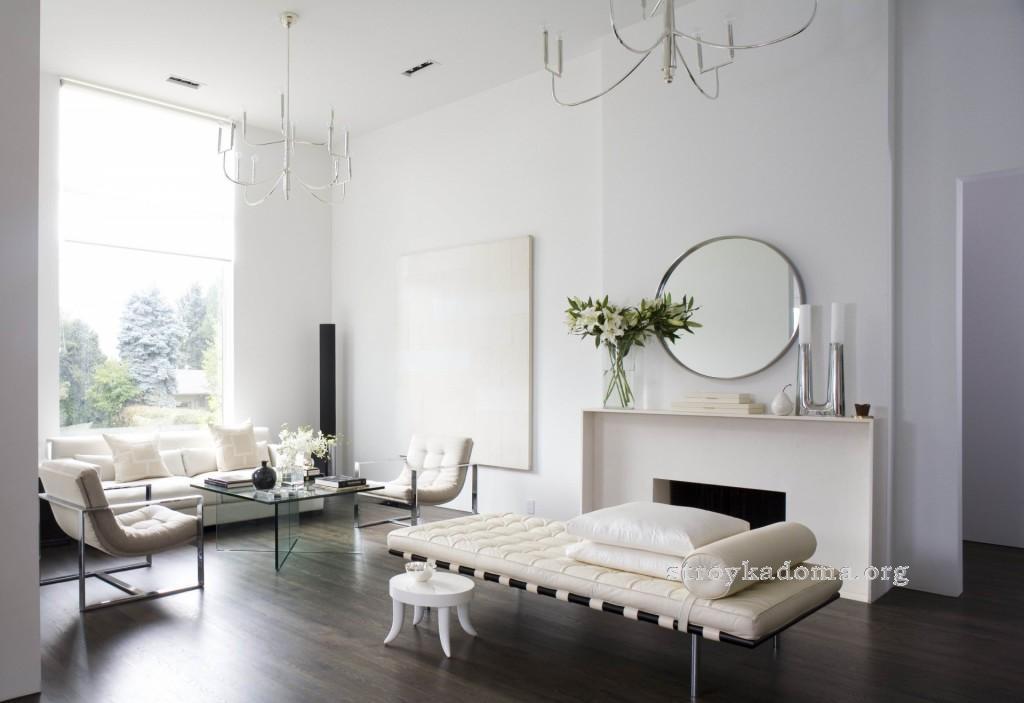 минимализм в интерьере гостиной