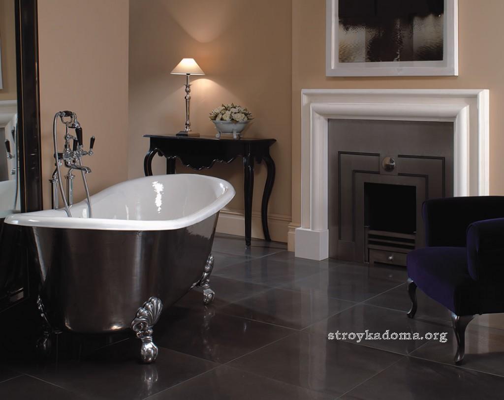 оформление дизайна ванной в стиле ретро