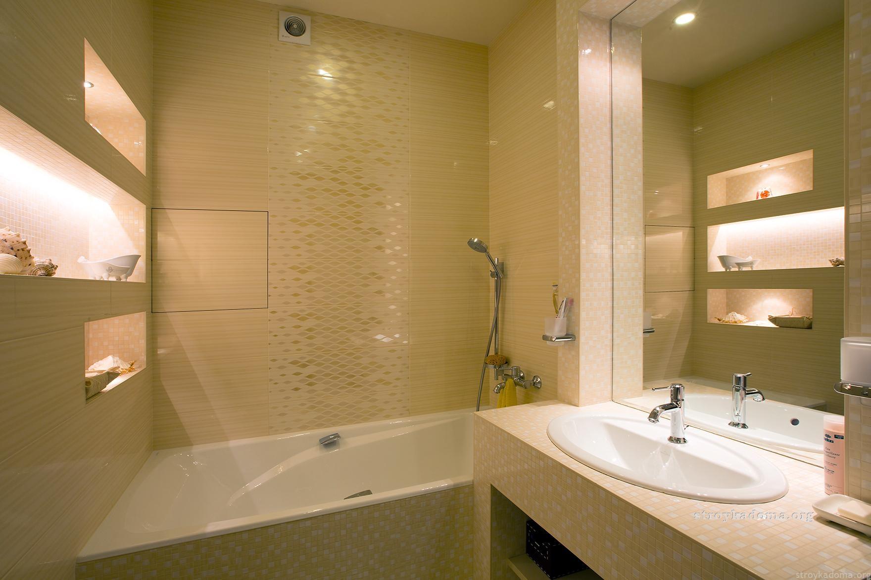 Плитка в маленькой ванной фото реальные
