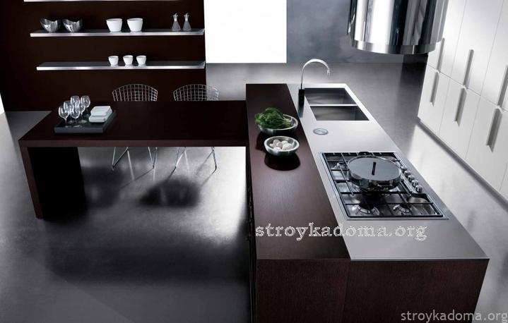 современная красивая кухня