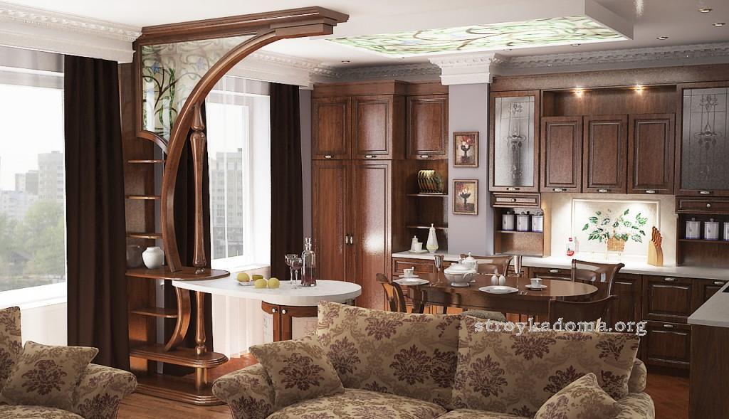 стиль гостиная-кухня фото