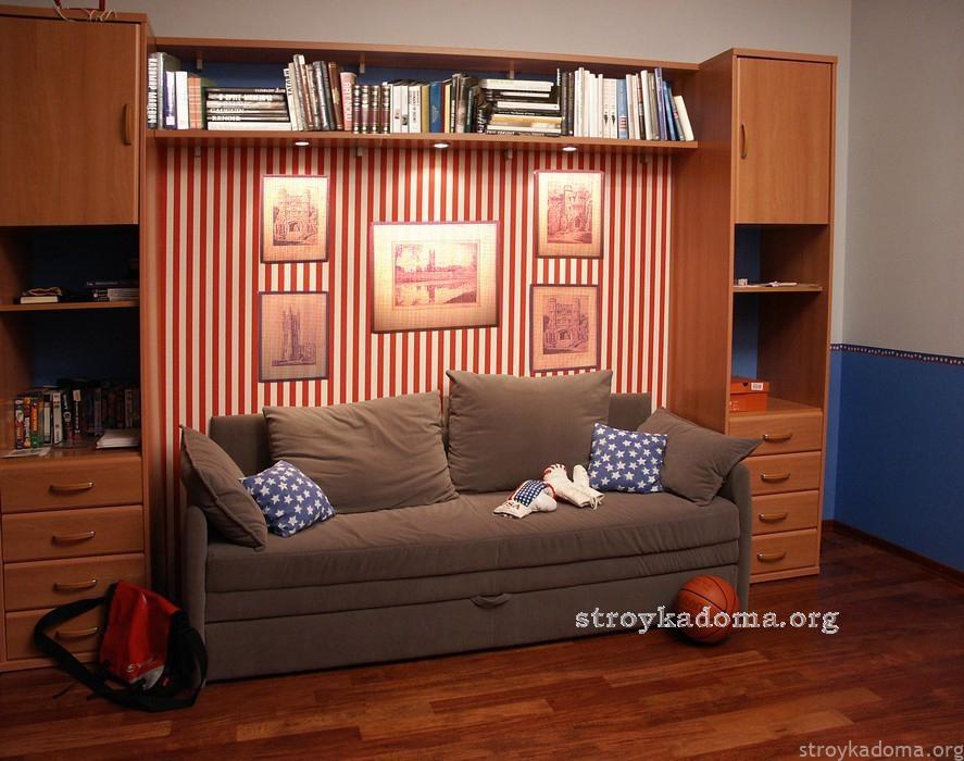вариант дизайна детской комнаты для подростка