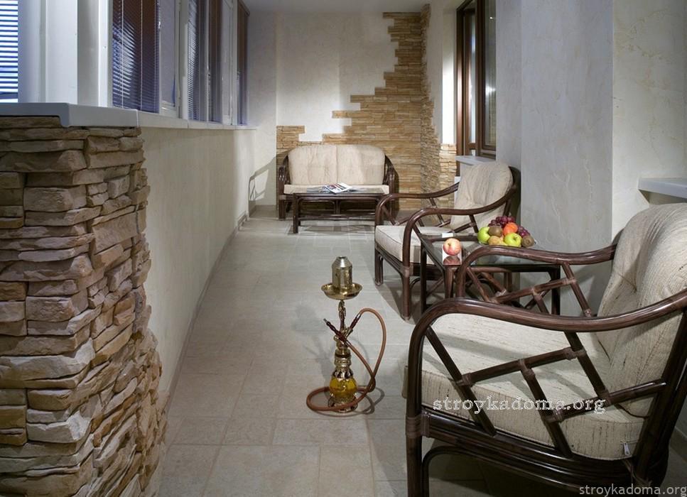 дизайн для балкона в современной квартире