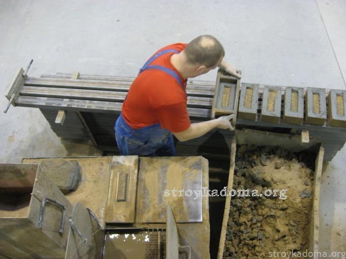 Ручная формовка кирпича своими руками