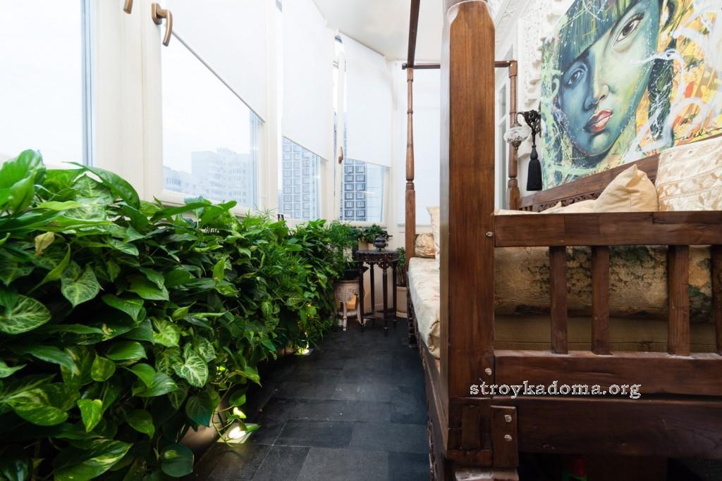 красивый балкон интерьер