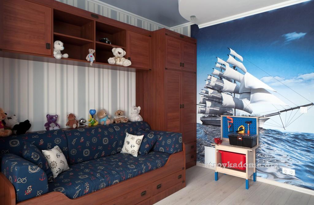 современный дизайн комнаты для мальчиков