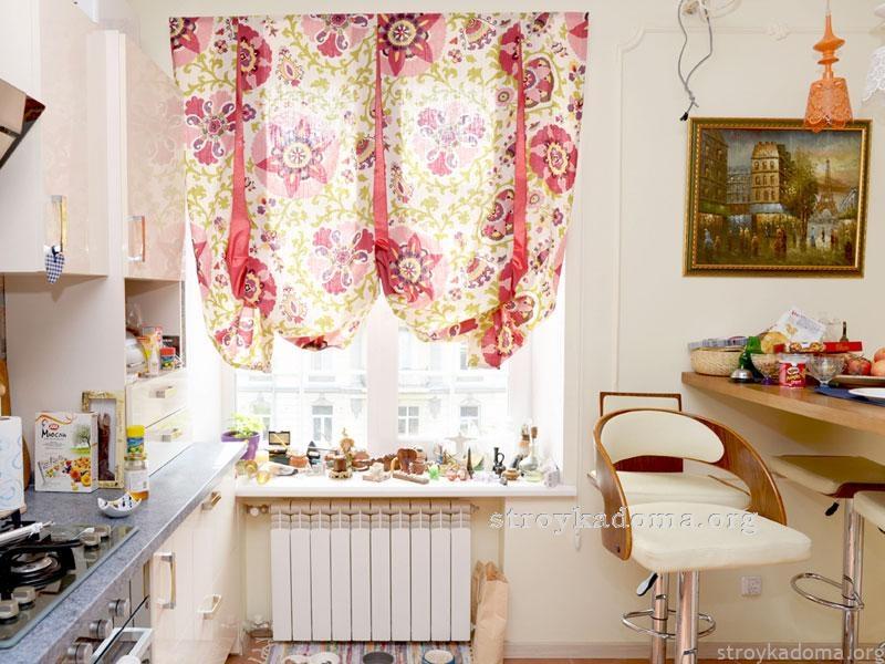 Дизайн штор для кухни современный