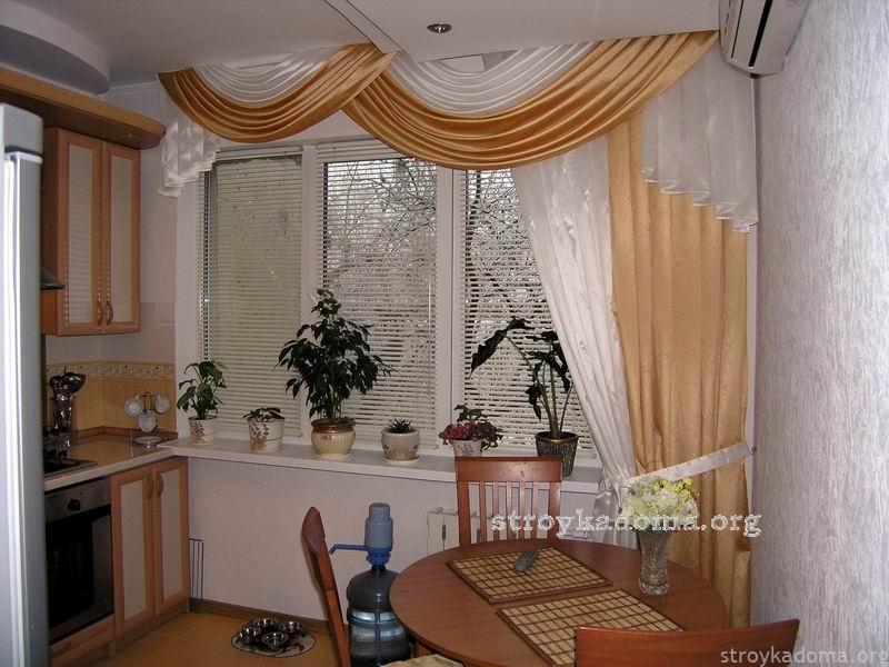 Дизайн кухонных штор.фото