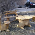 самодельные столы и стулья из дерева