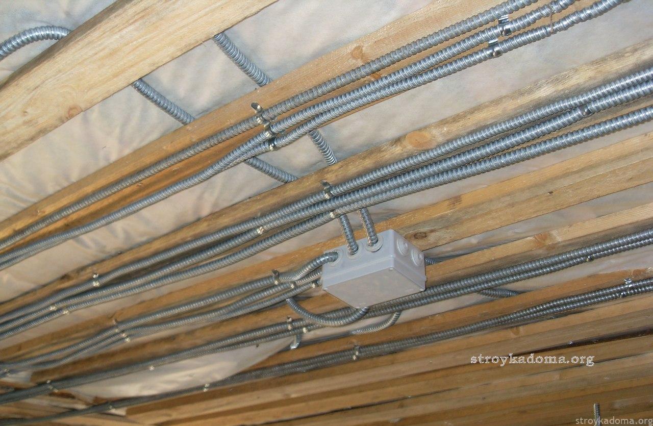 электропроводка в деревянных домах