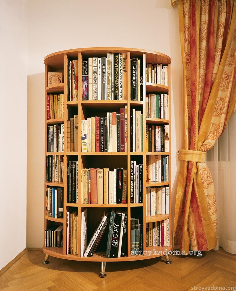 Навесные книжные полки основные виды.