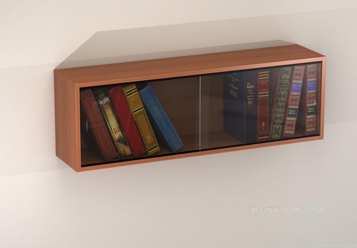 Отличная полка для книг из стекла