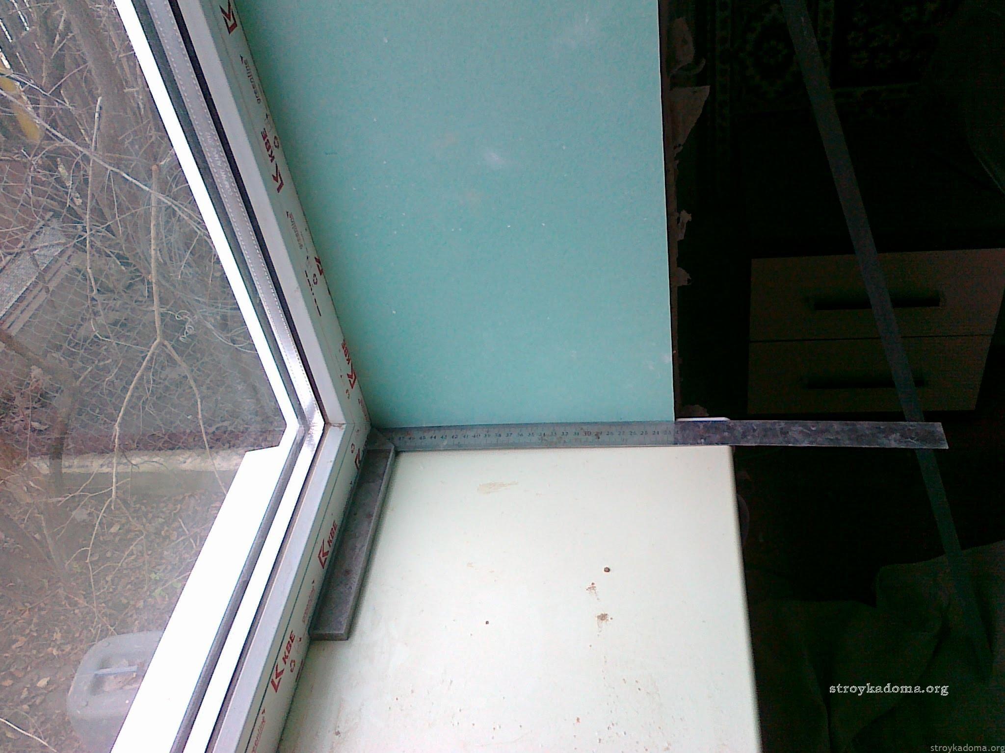 Откосы для пластикового окна из гипсокартона