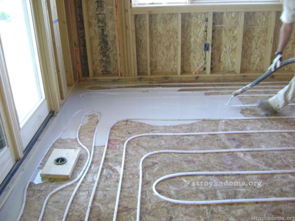 Пример утепления бетоннго пола