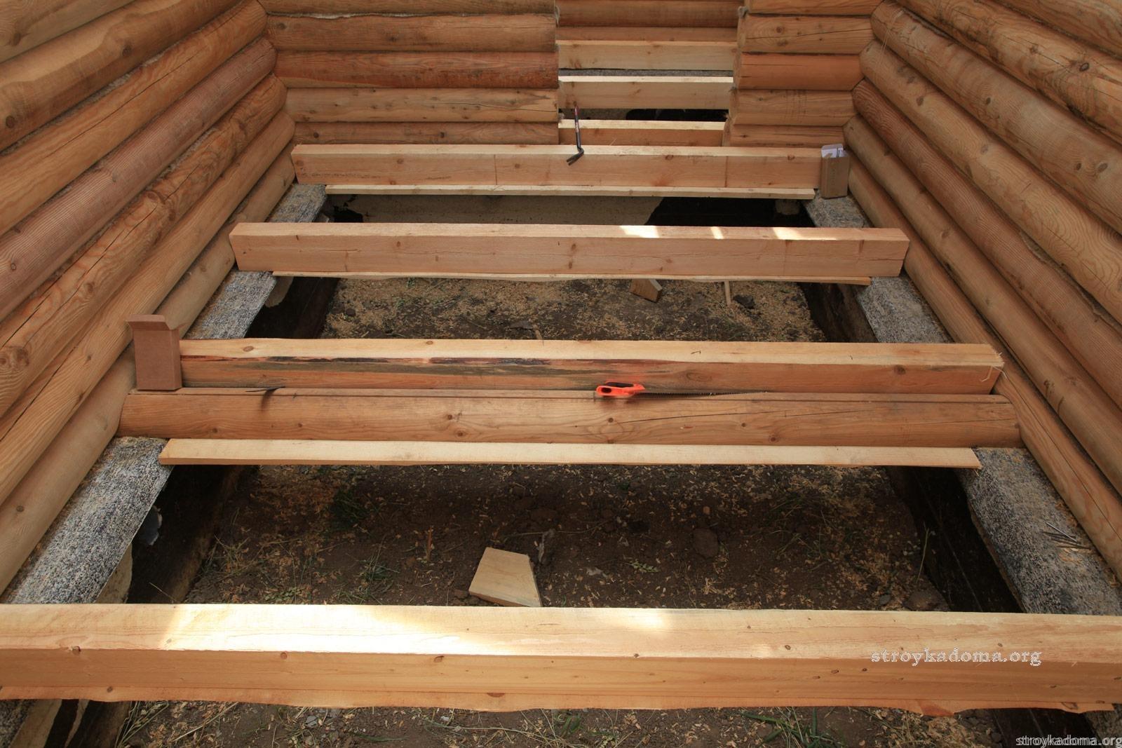 Пример чернового пола в деревянном доме