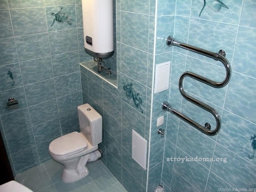 Ремонт стен туалета
