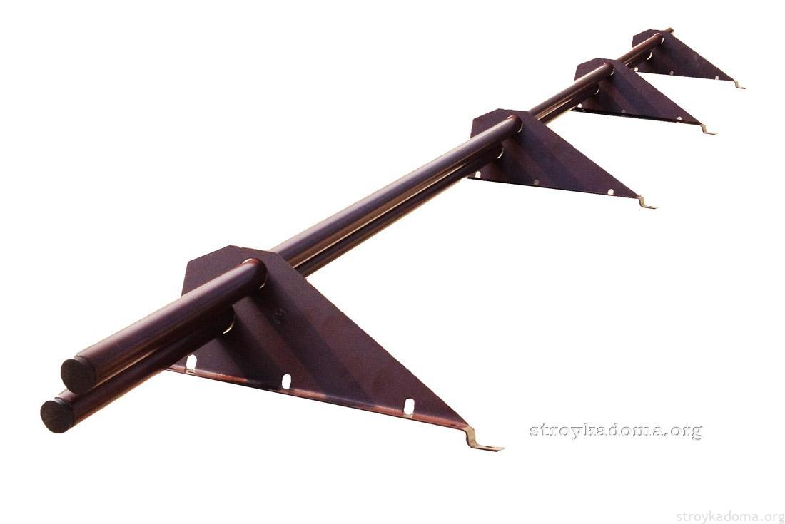 виды снегодержателей для крыши