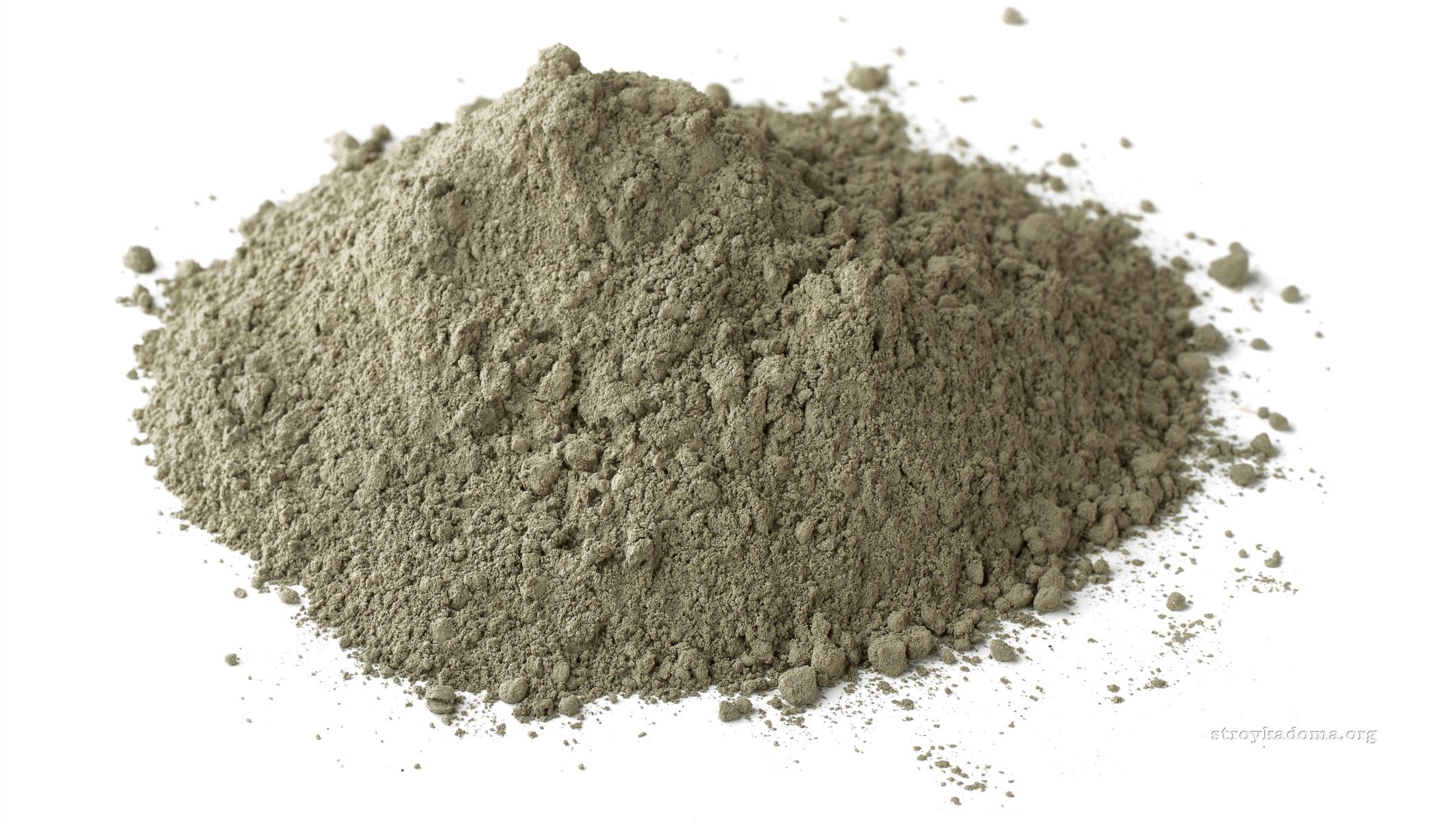 как выглядит белый цемент