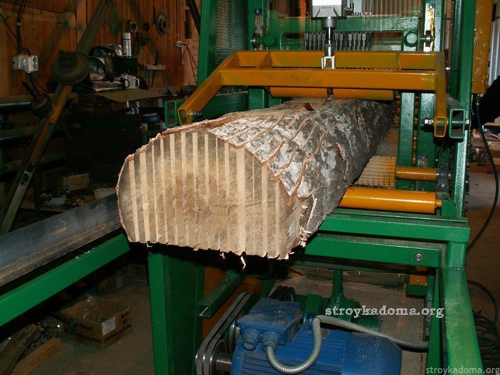 как обработать дерево на пилораме